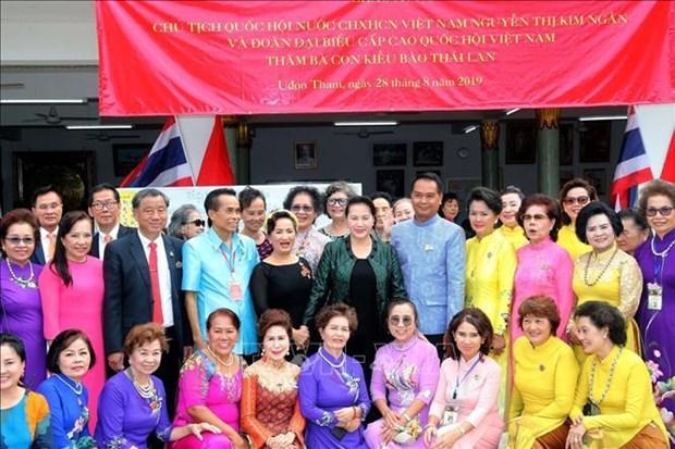 越南国会主席阮氏金银访问泰国乌隆府 hinh anh 2