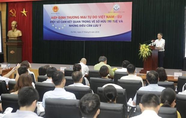 越南认真履行EVFTA中有关知识产权的承诺 hinh anh 1