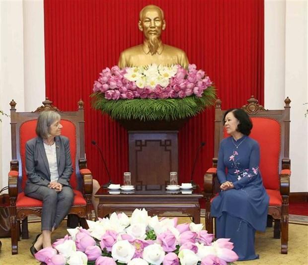 越共中央民运部部长张氏梅会见ILO政策事务副总干事 hinh anh 2