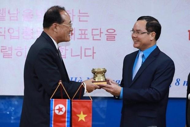 越南与朝鲜工会组织加强合作 hinh anh 1
