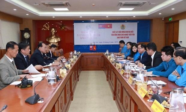 越南与朝鲜工会组织加强合作 hinh anh 2