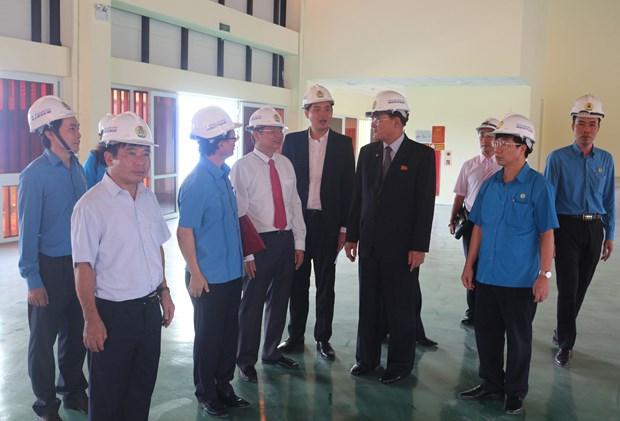 朝鲜职业同盟代表团访问越南河南省工会基础设施项目 hinh anh 2