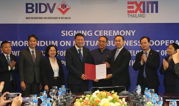 越南BIDV银行与泰国EXIM银行签署合作协议 hinh anh 1