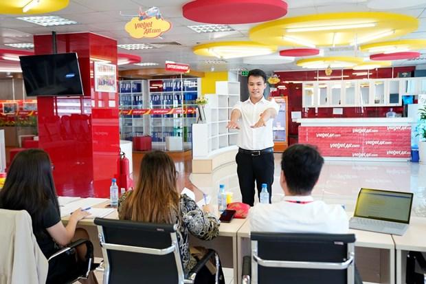 越捷航空将在日本举行8月份最具规模的空中乘务员招聘会 hinh anh 1