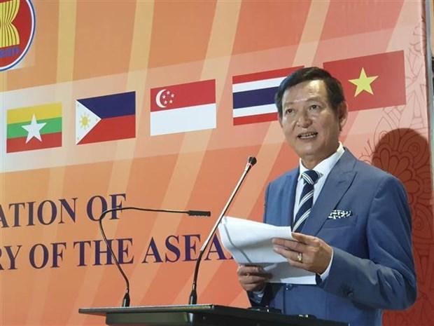 越南驻埃及大使馆举行东盟成立52周年庆祝活动 hinh anh 2