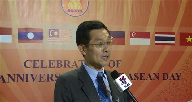 越南驻埃及大使馆举行东盟成立52周年庆祝活动 hinh anh 3
