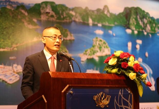越南驻柬大使馆举行国庆招待会 庆祝越南社会主义共和国成立74周年 hinh anh 1