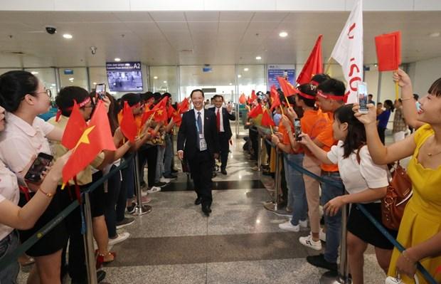 越南代表团在第45届世界技能大赛中载誉归来 hinh anh 1