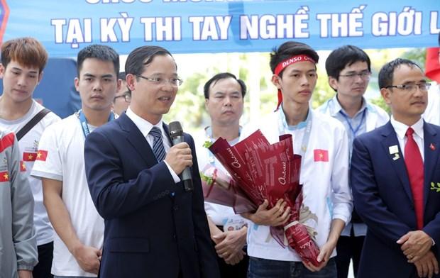越南代表团在第45届世界技能大赛中载誉归来 hinh anh 2