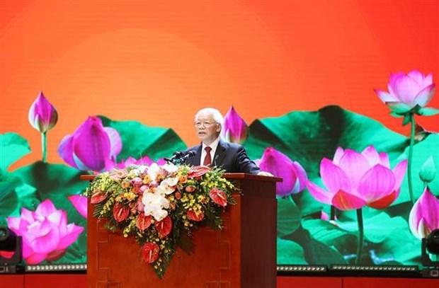 阮富仲:没有坚强意志,将对祖国的命运、国家政权的生存和党的领导作用构成威胁 hinh anh 2