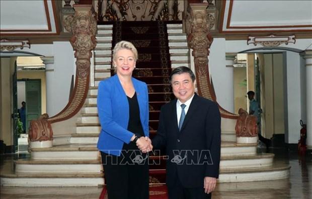 胡志明市与澳大利亚加强高科技农业合作 hinh anh 1