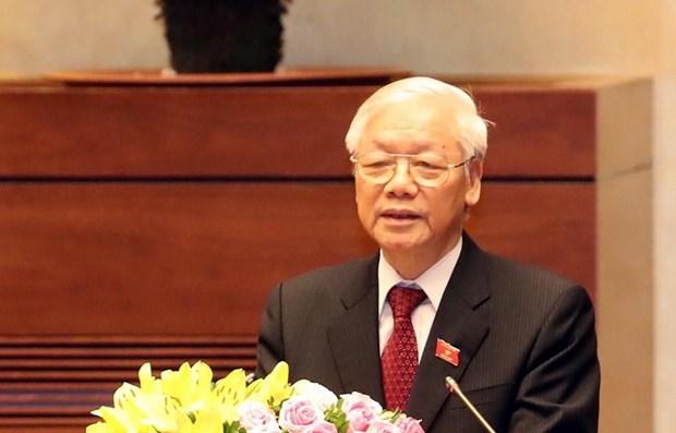 越共中央总书记、国家主席阮富仲致2019-2020新学年贺信 hinh anh 1