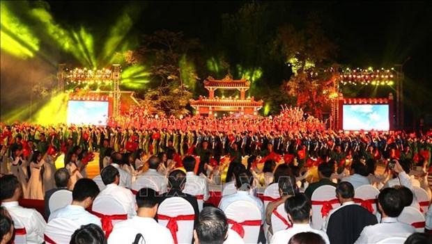 """庆祝胡志明主席遗嘱执行50周年的""""团结之歌""""电视异地直播活动举行 hinh anh 2"""