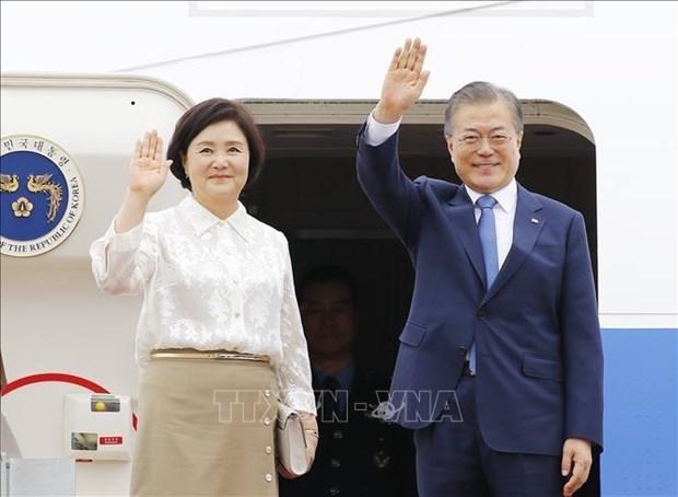 韩国总统文在寅启程出访东南亚三国 hinh anh 1