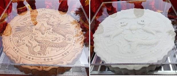 一对超大的中秋月饼破越南纪录 hinh anh 1