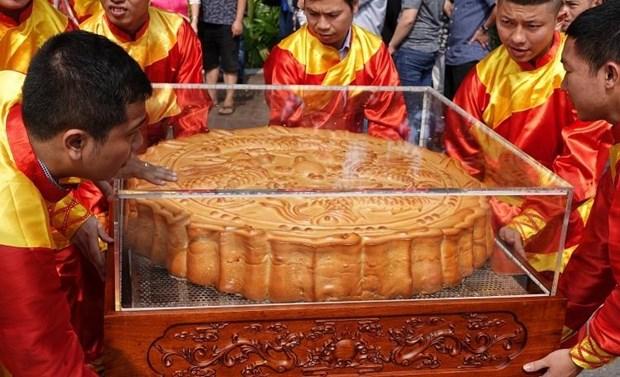一对超大的中秋月饼破越南纪录 hinh anh 2