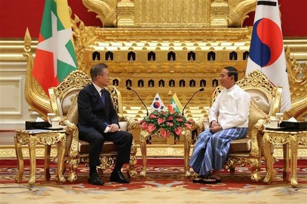 缅甸与韩国深化合作 hinh anh 1