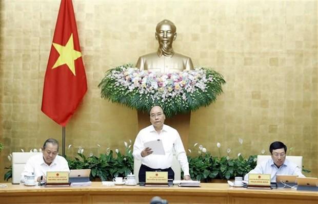 越南政府总理阮春福召开政府8月份例行会议 hinh anh 2