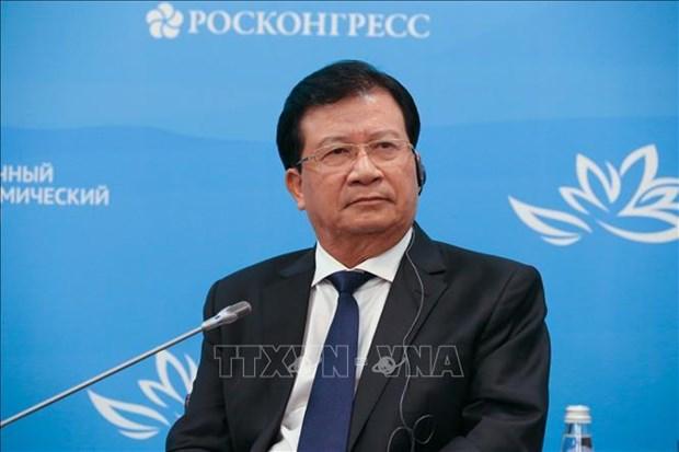 越南政府副总理郑廷勇出席第五届东方经济论坛全体会议 hinh anh 1