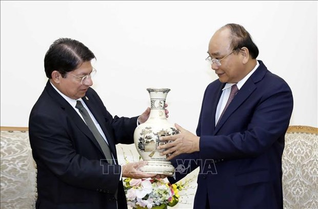 政府总理阮春福会见尼加拉瓜外长丹尼斯·孟卡达 hinh anh 1