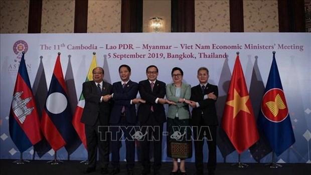 柬老缅越四国经济部长一致同意加强合作 hinh anh 1