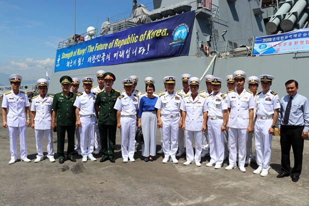韩国军舰访问岘港市 hinh anh 2
