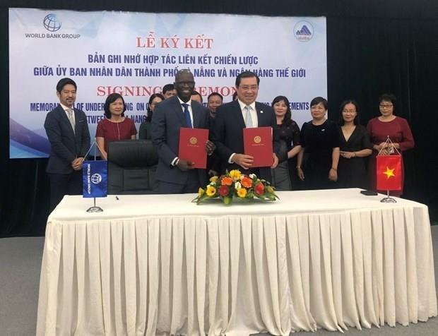岘港市与世界银行签署战略对接备忘录 hinh anh 1
