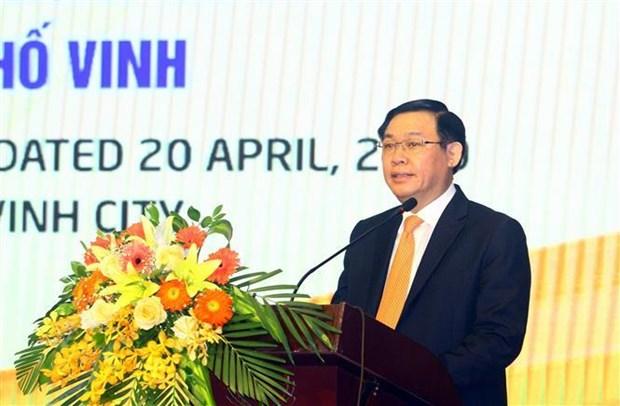 越南政府副总理王廷惠出席荣市发展会议 hinh anh 2