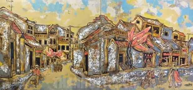 2019年传统磨漆画展在胡志明市举行 hinh anh 1