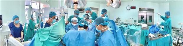 顺化中央医院一月内器官移植手术数量创下纪录 hinh anh 1