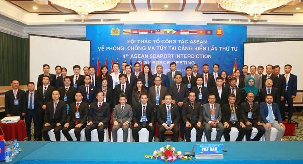 东盟各国携手打击东南亚海上毒品犯罪 hinh anh 1