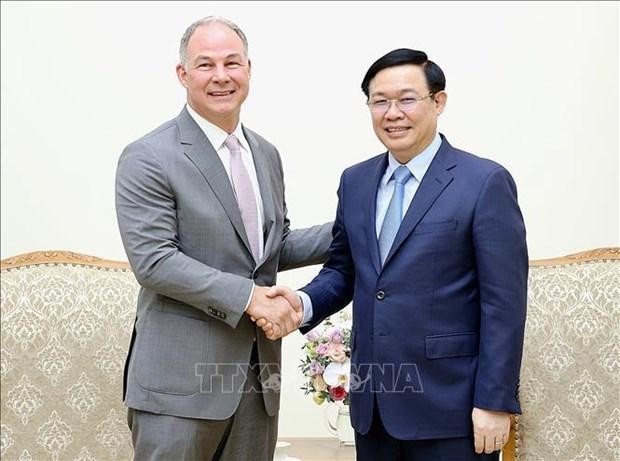 越南政府副总理王廷惠欢迎美国企业在越南开展能源合作 hinh anh 1