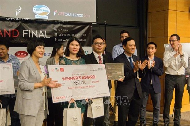 2019年全球越南人创业大赛结束:越南医学链获得一等奖 hinh anh 2