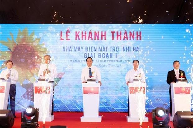 二河太阳能发电厂在宁顺省落成 hinh anh 1