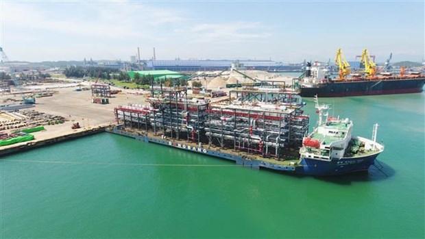 斗山重工业(越南)有限公司向阿联酋出口12个巨型模块 hinh anh 1