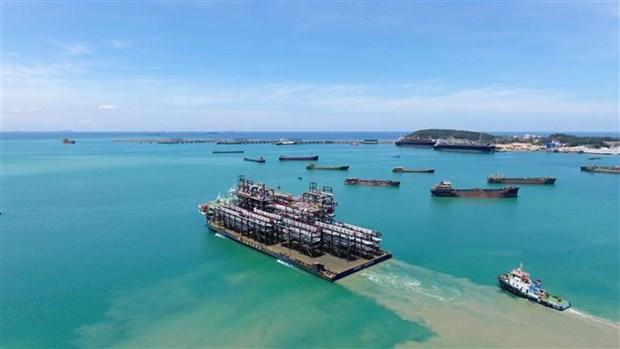斗山重工业(越南)有限公司向阿联酋出口12个巨型模块 hinh anh 2