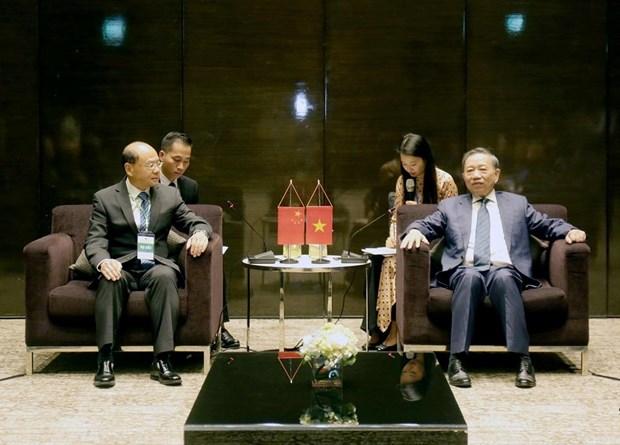 越南公安部长苏林会见中国国家禁毒委员会副主任曾伟雄 hinh anh 1