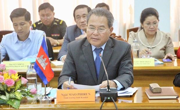 越南安江省和柬埔寨甘丹省促进边贸往来 hinh anh 2