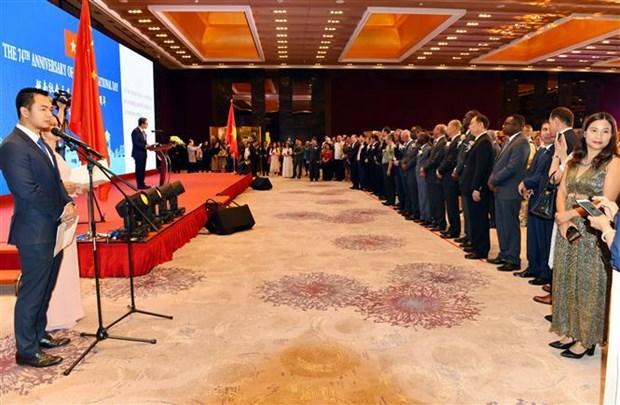越南国庆74周年纪念典礼在中国隆重举行 hinh anh 1