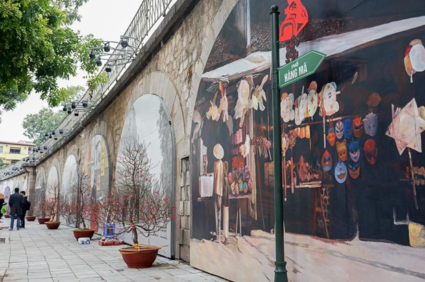 河内拟对冯兴街拱桥进行修改 打造独特文化空间 hinh anh 1