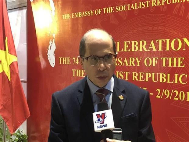 越南国庆74周年纪念典礼在埃及举行 hinh anh 1