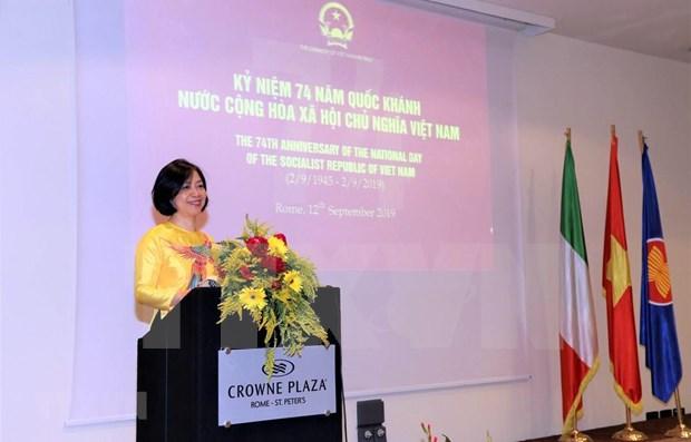 越南与意大利加强合作有效促进多边主义 hinh anh 1