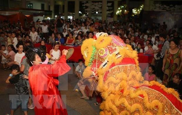 旅居老挝万象越南儿童欢度中秋节 hinh anh 1
