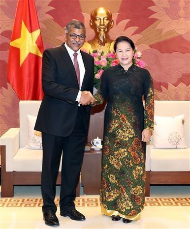 越南国会主席阮氏金银会见新加坡首席大法官 hinh anh 1