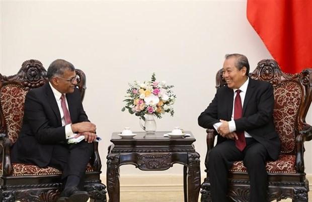 越南政府副总理张和平会见新加坡首席大法官 hinh anh 1