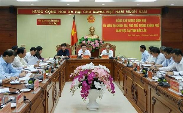 越南政府副总理王廷惠莅临得乐省调研 hinh anh 1