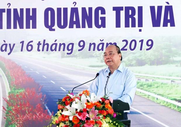 政府总理阮春福出席2017-2020年阶段东部北南高速公路甘露-罗山路段建设项目动工兴建仪式 hinh anh 2