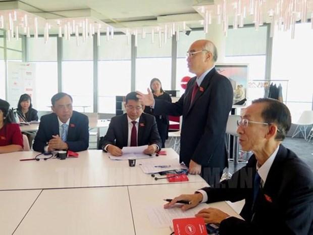 胡志明市国会代表团与法国里昂分享城市发展经验 hinh anh 1