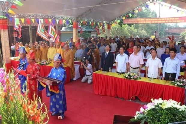 阮廌忌日577周年纪念仪式在昆山遗迹区举行 hinh anh 1