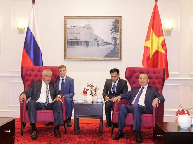 越南公安部与俄罗斯联邦内务部促进合作关系 hinh anh 1